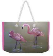 Standing Flamingos Weekender Tote Bag