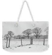 Standing In The Snow Weekender Tote Bag