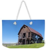 Standing Old Wooden Barn  Weekender Tote Bag