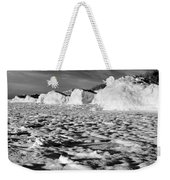 Standing On Lake Michigan Ice Weekender Tote Bag