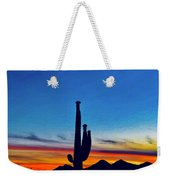The Saguaro King Weekender Tote Bag