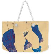 Standing Woman With Shoes And Stockings Weekender Tote Bag