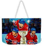 Stanley Cup Win In Sight Playoffs   2010 Weekender Tote Bag by Carole Spandau