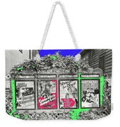 Stanley Theater Movie Showings John Vachon Photo Fsa  Cadott Wisconsin September 1939 Color Added 20 Weekender Tote Bag