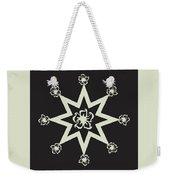 Star Flower - Ebony And Ivory Weekender Tote Bag