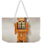 Star Strider Robot Orange Weekender Tote Bag