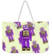 Star Strider Robot Purple Pattern Weekender Tote Bag