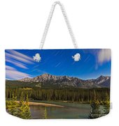 Star Trails Above The Front Ranges Weekender Tote Bag