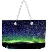 Star Trails And Aurora Weekender Tote Bag