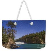 Star Trails And Moonbow Over Bow Falls Weekender Tote Bag