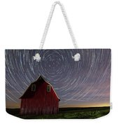 Star Trails At The Red Barn Weekender Tote Bag