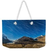 Star Trails Over Columbia Icefields Weekender Tote Bag