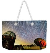 Star Trails Over Custer Observatory Weekender Tote Bag