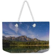 Star Trails Over Patricia Lake Weekender Tote Bag