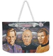 Star Trek Tribute Enterprise Captains Weekender Tote Bag
