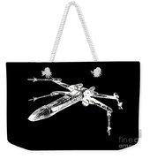 Star Wars T-65 X-wing Starfighter White Ink Tee Weekender Tote Bag