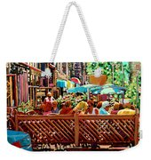Starbucks Cafe On Monkland Montreal Cityscene Weekender Tote Bag