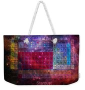 Stardust Periodic Table Weekender Tote Bag by Carol and Mike Werner