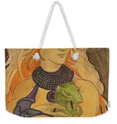 Starfire With Beast Boy In The Form Of A Ermine Weekender Tote Bag