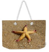 Starfish Weekender Tote Bag by Mamie Thornbrue
