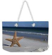 Starfish Standing On The Beach Weekender Tote Bag