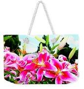 Stargazer Lilies #1 Weekender Tote Bag