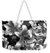 Stargazer Lilies Bw Weekender Tote Bag
