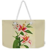Stargazer Lilies - Watercolor Weekender Tote Bag