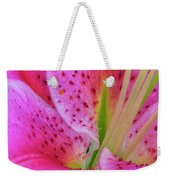 Stargazer Lily Close Up Weekender Tote Bag