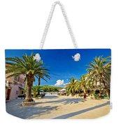 Stari Grad On Hvar Island Palm Waterfront Weekender Tote Bag