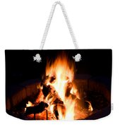 Staring Into The Fire Weekender Tote Bag