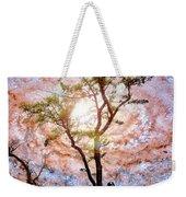 Starry Night Fantasy, Tree Silhouette Weekender Tote Bag