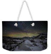 Starry Night In Iceland Weekender Tote Bag