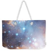 Starry Night Over A Mountain Lake Fantasy Weekender Tote Bag