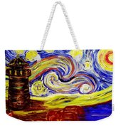 Starry Night Over Nubble Lighthouse  Weekender Tote Bag