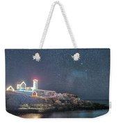 Starry Sky Of The Nubble Light In York Me Cape Neddick Weekender Tote Bag