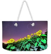 Starry Sky Over Colby Farm Sunflowers Newbury Ma Weekender Tote Bag