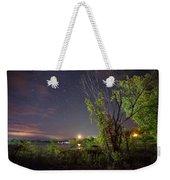 Starry Sky Over Lake Champlain New York Weekender Tote Bag