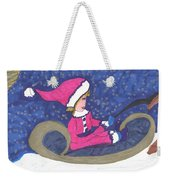 Starry Sleigh Ride Weekender Tote Bag