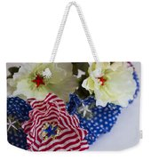 Stars And Stripes Bouquet Weekender Tote Bag