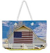 Stars Stripes And Barns Weekender Tote Bag