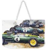 1963 Start British Gp  - Lotus  Brabham  Brm  Brabham Weekender Tote Bag