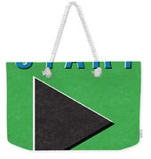 Start Button Weekender Tote Bag
