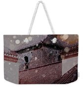 Starting To Snow Weekender Tote Bag