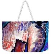 Startled Cornish Rex Cat Weekender Tote Bag by Svetlana Novikova