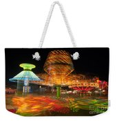 State Fair Rides At Night I Weekender Tote Bag by Clarence Holmes