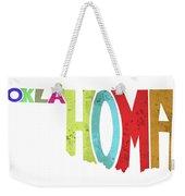 State Of Oklahoma Typography Weekender Tote Bag