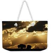 Stately American Bison Weekender Tote Bag