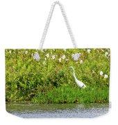 Stately Egret Weekender Tote Bag
