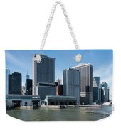 Staten Island Ferry Docks Weekender Tote Bag